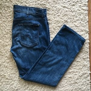 """7 For All Mankind Luxe Performance """"Standard"""" Blue"""